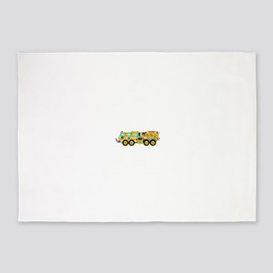Fire Truck - Concept wild land yell 5'x7'Area Rug