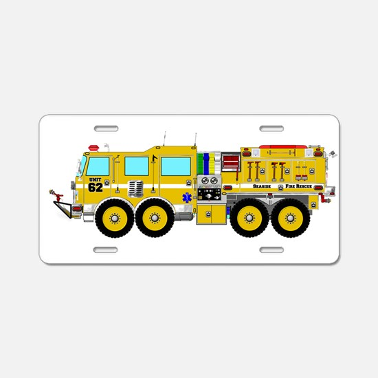 Fire Truck - Concept wild l Aluminum License Plate