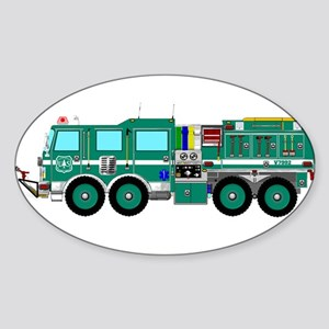 Fire Truck - Concept wild land green fire Sticker