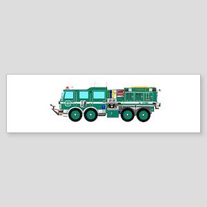 Fire Truck - Concept wild land gree Bumper Sticker