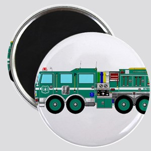 Fire Truck - Concept wild land green fire Magnets