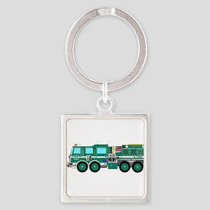 Fire Truck - Concept wild land green fir Keychains