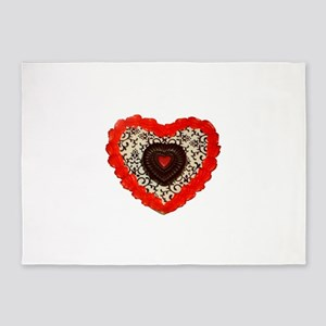 Signature Heart Cookie 5'x7'Area Rug