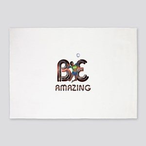 Be Amazing Volleyball 5'x7'Area Rug