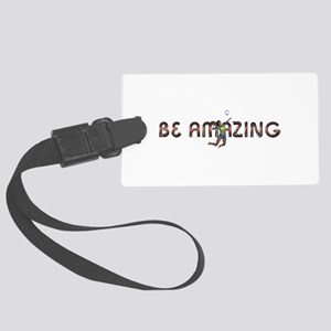 Be Amazing Volleyball Large Luggage Tag