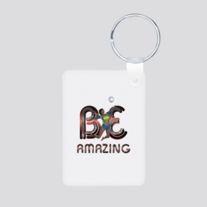 Be Amazing Volleyball Aluminum Photo Keychain