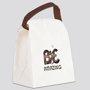 Be Amazing Volleyball Canvas Lunch Bag