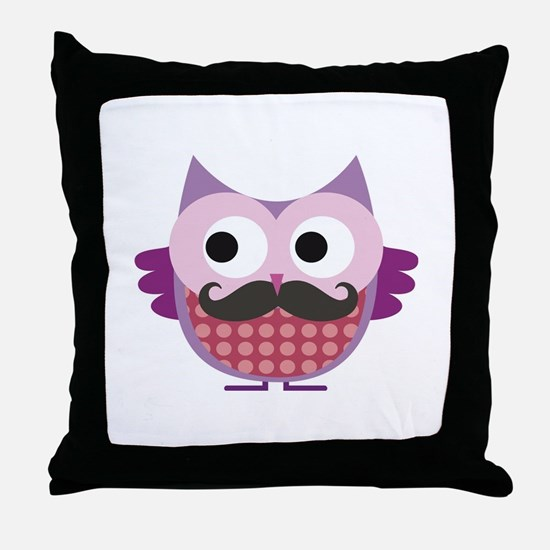 I mustache you....whoo do you love? Throw Pillow
