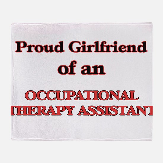 Proud Girlfriend of a Occupational T Throw Blanket