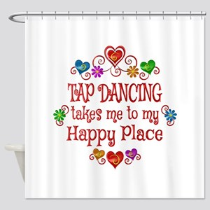 Tap Dancing Happy Place Shower Curtain