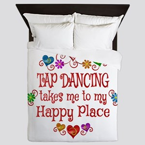 Tap Dancing Happy Place Queen Duvet