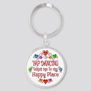 Tap Dancing Happy Place Round Keychain