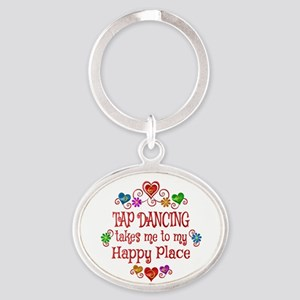 Tap Dancing Happy Place Oval Keychain