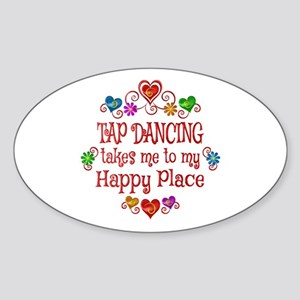Tap Dancing Happy Place Sticker (Oval)