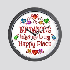Tap Dancing Happy Place Wall Clock