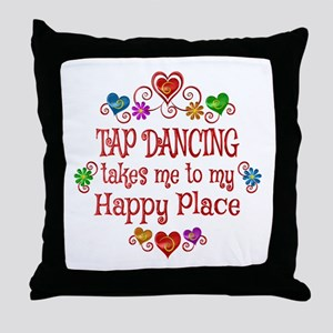 Tap Dancing Happy Place Throw Pillow