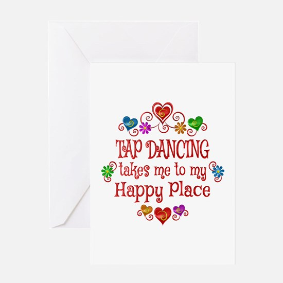 Tap Dancing Happy Place Greeting Card