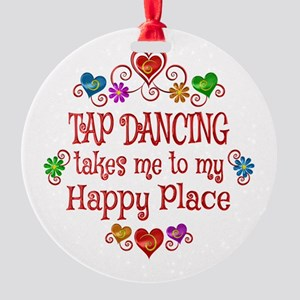 Tap Dancing Happy Place Round Ornament