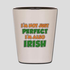 Not Just Perfect Irish Shot Glass