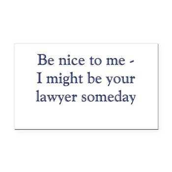 lawyer someday Rectangle Car Magnet