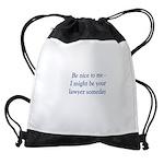 lawyer someday Drawstring Bag