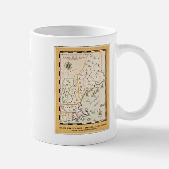 Vintage poster - New England Mugs