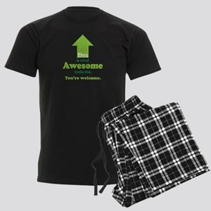 Awesome_lime Men's Dark Pajamas