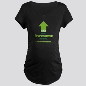 Awesome_lime Maternity T-Shirt
