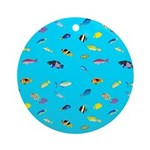 Pacific Reef Fish Scatter Round Ornament