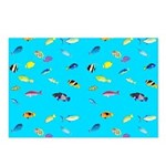 Pacific Reef Fish Scatter Postcards (Package of 8)