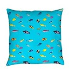 Pacific Reef Fish Scatter Everyday Pillow