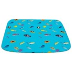 Pacific Reef Fish Scatter Bathmat