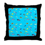 Pacific Reef Fish Scatter Throw Pillow
