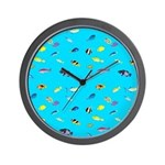 Pacific Reef Fish Scatter Wall Clock