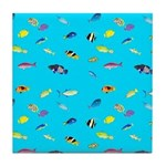 Pacific Reef Fish Scatter Tile Coaster
