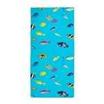 Pacific Reef Fish Scatter Beach Towel
