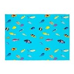 Pacific Reef Fish Scatter 5'x7'Area Rug