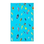 Pacific Reef Fish Scatter Area Rug