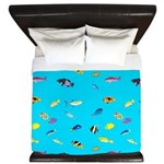 Pacific Reef Fish Scatter King Duvet
