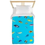 Pacific Reef Fish Scatter Twin Duvet