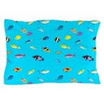 Pacific Reef Fish Scatter Pillow Case