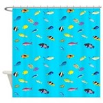 Pacific Reef Fish Scatter Shower Curtain