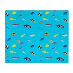 Pacific Reef Fish Scatter Throw Blanket