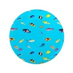 Pacific Reef Fish Scatter Button