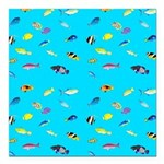 Pacific Reef Fish Scatter Square Car Magnet 3