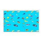 Pacific Reef Fish Scatter Rectangle Car Magnet