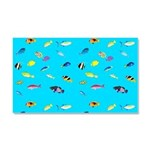 Pacific Reef Fish Scatter Car Magnet 20 x 12