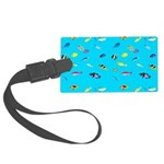 Pacific Reef Fish Scatter Luggage Tag