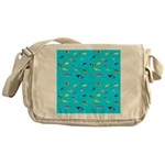 Pacific Reef Fish Scatter Messenger Bag