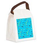 Pacific Reef Fish Scatter Canvas Lunch Bag